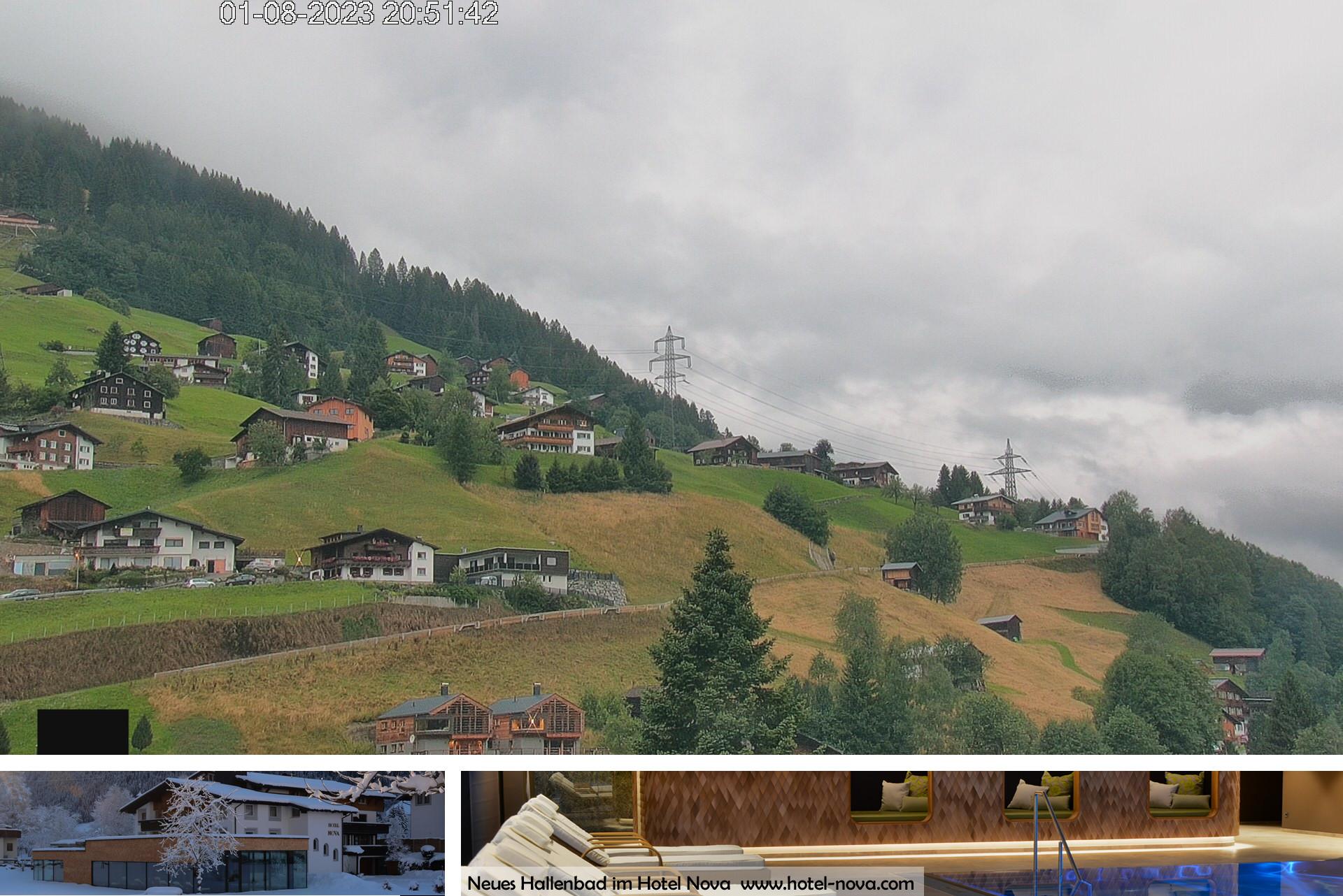 Panorama Webcam Hotel Nova an der Silvretta - Blick auf Gaschurn Berg