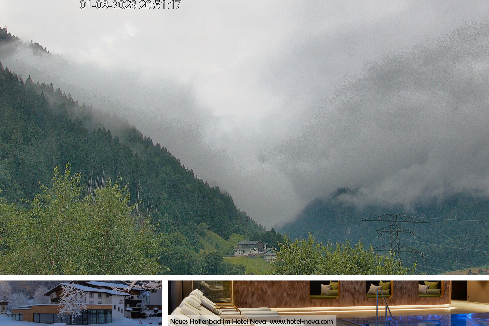 Panorama Webcam Hotel Nova an der Silvretta - Blick auf die Zamangspitze